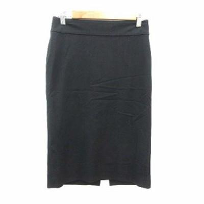 【中古】ダナキャランニューヨーク DKNY タイトスカート ミモレ ロング 2 黒 ブラック /YK レディース