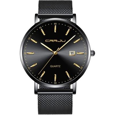 Men Fashion Wrist Watch CRRJU Classic Minimalist Men's Business Dress