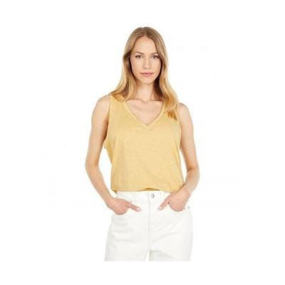 Madewell レディース 女性用 ファッション トップス シャツ Whisper Cotton V-Neck Tank - Autumn Gold