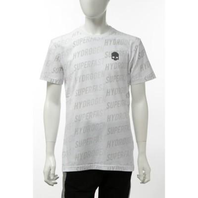 ハイドロゲン Tシャツ 半袖 丸首 クルーネック メンズ 265606 ホワイト 2020年春夏新作 HYDROGEN
