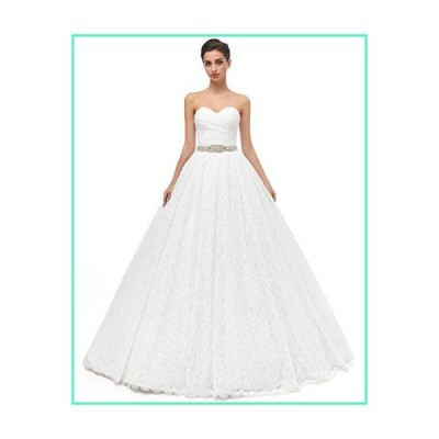 Likedpage Women's Sweetheart Ball Gown Lace Bridal Wedding Dresses (US2, Ivory)並行輸入品