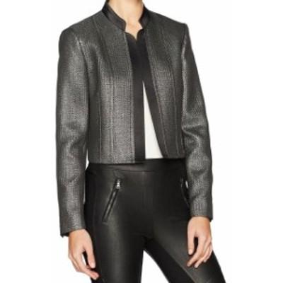 Blazer ブレザー ファッション 衣類 Nine West NEW Black Womens Size 4 Shimmer Notch Collar Blazer Jacket