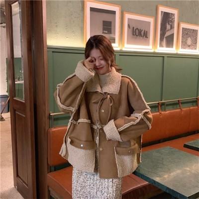 🌈オールシーズン使えます😘👍2019 秋冬 新品 韓国ファッション おしゃれな 秋冬物 長袖 ラペル 両面の着用 レトロ ゆったりする 百掛け コート