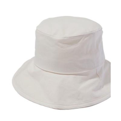 SPINNS / コットン ツバ広バケットハット WOMEN 帽子 > ハット