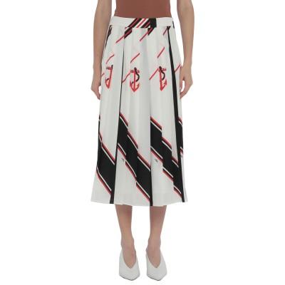 エムエスジーエム MSGM 7分丈スカート ホワイト 38 ポリエステル 100% 7分丈スカート