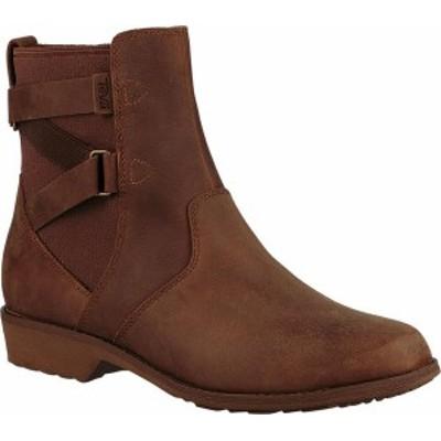 テバ レディース ブーツ・レインブーツ シューズ Women's Teva Ellery Waterproof Ankle Boot Pecan Leather