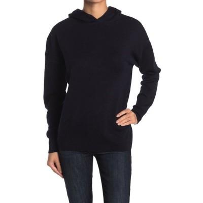 エム マガショーニ レディース ニット&セーター アウター Wool Blend Solid Knit Hoodie NIGHT LIFE