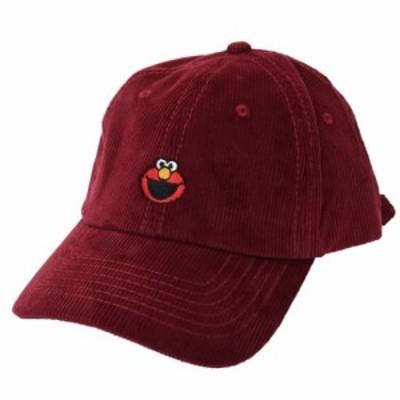 セサミストリート コーデュロイ 刺繍 ベースボールキャップ 帽子 エルモ SESAMI STREET 男女兼用 キャラクター グッズ