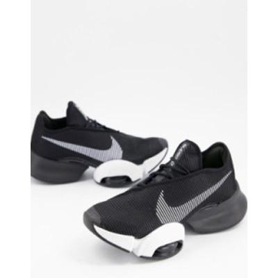 ナイキ レディース スニーカー シューズ Nike Training Air Zoom SuperRep 2 sneakers in black Black