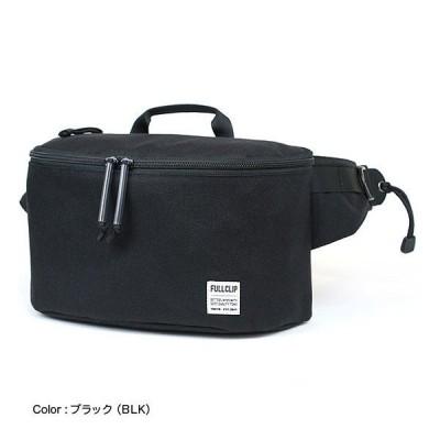 【日本製 国産】 FULLCLIP フルクリップ INTAKE インテイク ウエストバッグ ボディバッグ ジェットグライド 日本製 ブラック FWB-002-BLK
