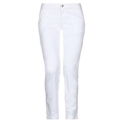 EAN 13 パンツ ホワイト 38 コットン 97% / ポリウレタン 3% パンツ