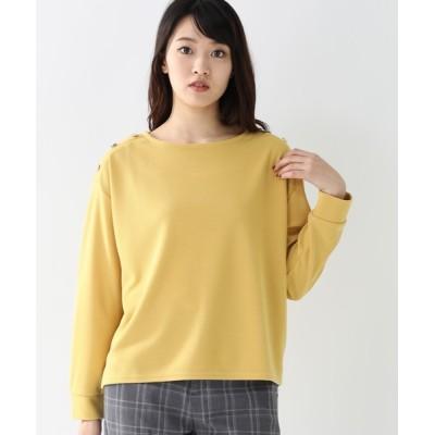 tシャツ Tシャツ 肩釦使いプルオーバー