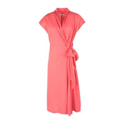 NIŪ 7分丈ワンピース・ドレス コーラル XS コットン 97% / ポリウレタン 3% 7分丈ワンピース・ドレス