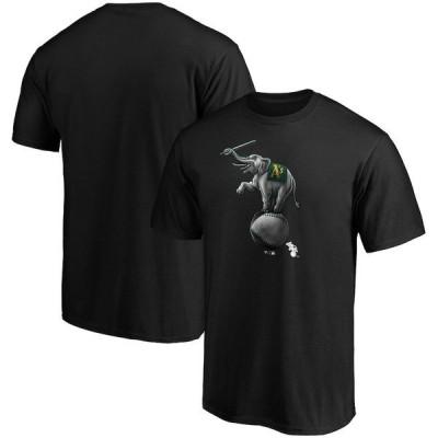ファナティクス ブランデッド メンズ Tシャツ トップス Oakland Athletics Fanatics Branded Big & Tall Midnight Mascot Team Logo T-Shirt
