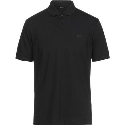 ZZEGNA メンズ ポロシャツ トップス polo shirt Black