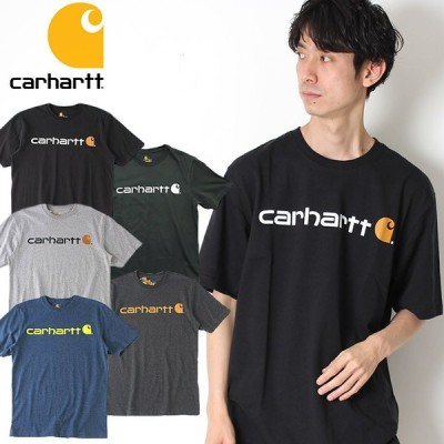 Carhart カーハート ワークウェア プリントロゴ Tシャツ Tシャツ K195 メンズ 半袖 Tシャツ ロゴ ブランド アメカジ カジュアル ストリート 古着 フルダン