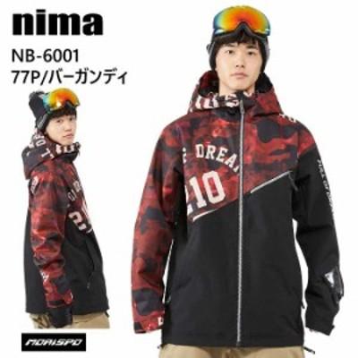 NIMA ニーマ ウェア NB-6001 ジャケット 20-21 77P ドリームプリント スノーボード スキー スノボ メンズ レディース ユニセックス