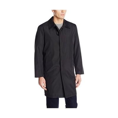 Perry Ellis メンズ ポリボンデッドレインコート ジップアウトライナー付き US サイズ: 42 Tall カラー: ブラック
