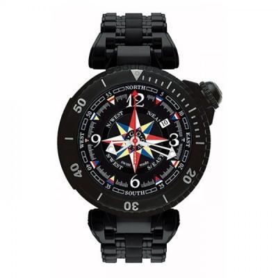 ジオ・モナコ GIO MONACO ポセイドン 695 ブラック文字盤 新古品 腕時計 メンズ