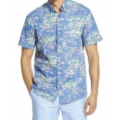 IZOD アイゾッド ファッション アウター Izod Mens Saltwater Dockside Tropical Print Short Sleeve Button Down Shirt