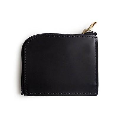 【コサック】かばん屋さんの L字型ファスナー コンパクト 財布 日本製 (ブラック)