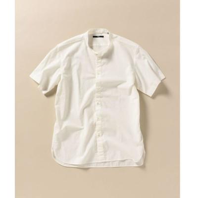 シャツ ブラウス SC: 形態安定加工 ポプリン バンドカラー シャツ