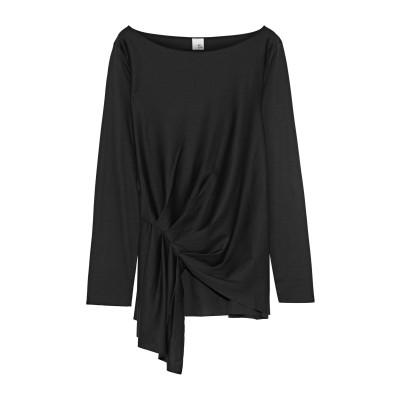 IRIS & INK T シャツ ブラック XS コットン 100% T シャツ