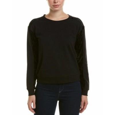 ROMEO & JULIET COUTURE ロミオ&ジュリエットクチュール ファッション トップス Romeo & Juliet Couture Velvet Sweatshirt M Black