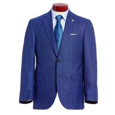 クレミュ メンズ ジャケット&ブルゾン アウター Classic Fit Blue Neat Wool Sportcoat Blue