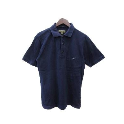 【中古】ナイジェルケーボン NIGEL CABOURN ポロシャツ 鹿の子 リボン 半袖 48 紺 ネイビー /AU メンズ 【ベクトル 古着】