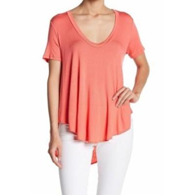 Lush ラッシュ ファッション トップス Lush Womens Blouse Coral Pink Size Medium M Swing High Low U-Neck