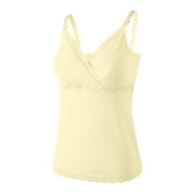レディース 衣類 トップス Selfieee Women's Nursing Tank Top Cami Maternity Bra Breastfeeding Clothes 20004 Yellow Medium タンクトップ