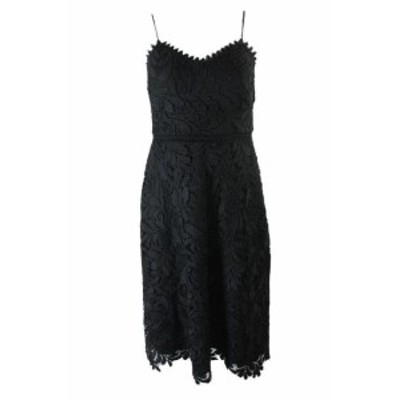 GUESS ゲス ファッション ドレス Guess Black Spaghetti Strap Lace A-Line Dress 2