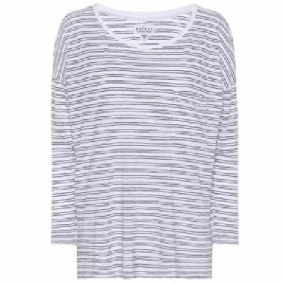ベルベット グラハムandスペンサー Velvet レディース トップス Manuka striped cotton-blend top White