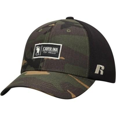 メンズ スポーツリーグ アメリカ大学スポーツ Men's Russell Athletic Camo North Carolina Tar Heels Agent Adjustable Snapback Hat - O