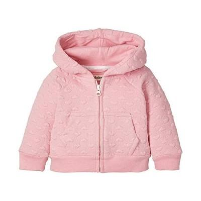 Hatley ハットレイ Pink Hearts Quilted Baby Hoodie ピンクハートキルティング・ジップアップウインドブレーカージャ