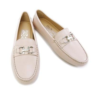 【在庫一掃セール】訳あり サルヴァトーレ フェラガモ Salvatore Ferragamo 靴 レディース ローファー ガンチーニ ベージュ (SABA 0568859 BE)