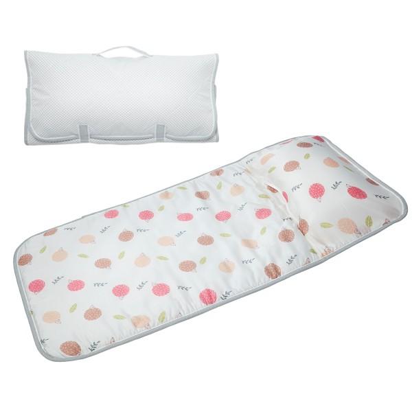 享居DOTDOT 2in1天絲睡袋睡墊(刺蝟家族) 專利產品 防螨抗菌 透氣防滑 收納快速 台灣製 幼稚園 收納袋洗衣袋