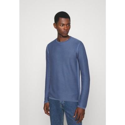 メンズ ファッション FEROS - Long sleeved top - light pastel blue
