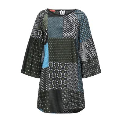 SMARTEEZ ミニワンピース&ドレス ミリタリーグリーン 38 コットン 100% ミニワンピース&ドレス
