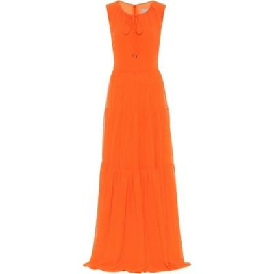 ハルパーン Halpern レディース パーティードレス ワンピース・ドレス Georgette gown Neon Orange