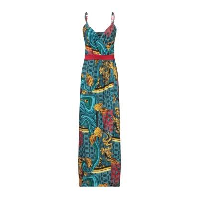 CRISTINAEFFE ロングワンピース&ドレス グリーン 40 レーヨン 92% / ポリウレタン 8% ロングワンピース&ドレス