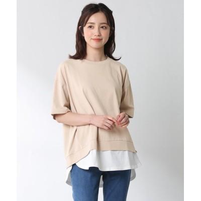 Honeys / 裾レイヤード風トップス WOMEN トップス > Tシャツ/カットソー