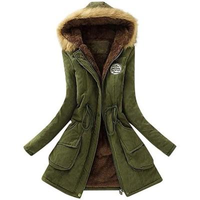 レディース モッズコート アウター コート ジャケット ミリタリーコート 中綿コート 長袖 中綿 フー(s2012251367)