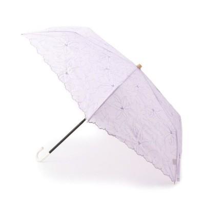 SHOO・LA・RUE/シューラルー フラワー刺しゅう晴雨兼用折り畳み傘 ライトパープル(181) 00