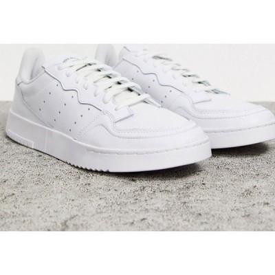 アディダス adidas Originals メンズ スニーカー シューズ・靴 Supercourt Trainers In White ホワイト