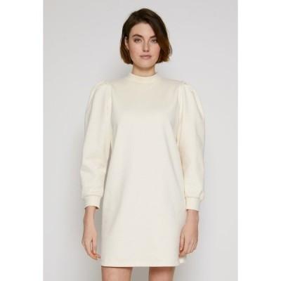 トムテイラーデニム ワンピース レディース トップス PUFF SLEEVE DRESS - Day dress - soft creme beige