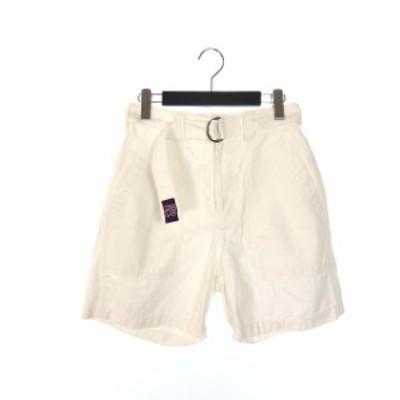【中古】ガンホー GUNG HO ベルト付き ショートパンツ ショーツ M ホワイト 白 春夏 レディース