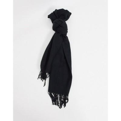 ジャック アンド ジョーンズ メンズ マフラー・ストール・スカーフ アクセサリー Jack & Jones scarf in black Black