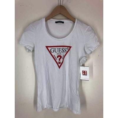 ゲスロサンゼルス GUESS los angeles 半袖 Uネック ロゴ Tシャツ レディース XS 中古 古着 210609